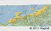 Savanna Style Panoramic Map of Hokuriku