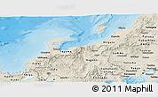 Shaded Relief Panoramic Map of Hokuriku