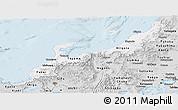 Silver Style Panoramic Map of Hokuriku