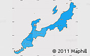Political Shades Simple Map of Hokuriku, cropped outside
