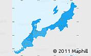 Political Shades Simple Map of Hokuriku, single color outside