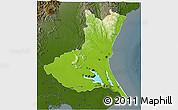 Physical 3D Map of Ibaraki, darken