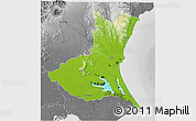Physical 3D Map of Ibaraki, desaturated