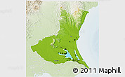 Physical 3D Map of Ibaraki, lighten