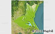 Physical 3D Map of Ibaraki, satellite outside