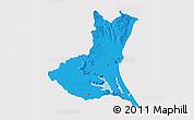 Political 3D Map of Ibaraki, cropped outside