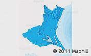 Political 3D Map of Ibaraki, single color outside