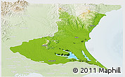 Physical Panoramic Map of Ibaraki, lighten