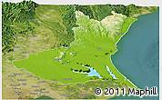 Physical Panoramic Map of Ibaraki, satellite outside
