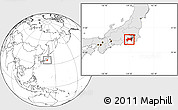 Blank Location Map of Kanagawa, highlighted country