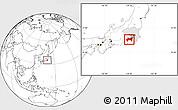 Blank Location Map of Kanagawa, highlighted parent region