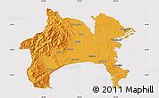 Political Map of Kanagawa, cropped outside
