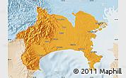 Political Map of Kanagawa, lighten