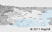 Gray Panoramic Map of Kanagawa