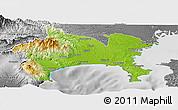Physical Panoramic Map of Kanagawa, desaturated