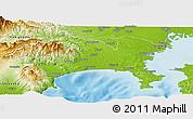 Physical Panoramic Map of Kanagawa