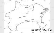 Blank Simple Map of Kanagawa, cropped outside
