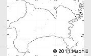 Blank Simple Map of Kanagawa, no labels