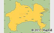 Savanna Style Simple Map of Kanagawa, cropped outside
