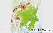 Physical Map of Kanto, lighten