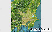 Satellite Map of Kanto
