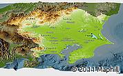 Physical Panoramic Map of Kanto, darken