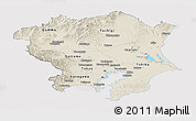 Shaded Relief Panoramic Map of Kanto, cropped outside
