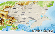 Shaded Relief Panoramic Map of Kanto, physical outside