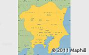 Savanna Style Simple Map of Kanto
