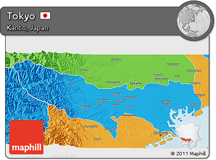 Free Political D Map Of Tokyo - Tokyo japan 3d map