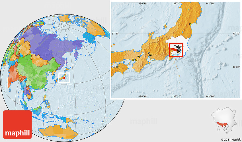 Where Is Tokyo Located On The World Map.Political Location Map Of Tokyo Highlighted Parent Region