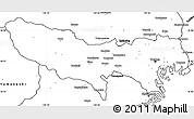 Blank Simple Map of Tokyo