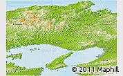 Physical Panoramic Map of Hyogo