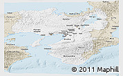 Classic Style Panoramic Map of Kinki