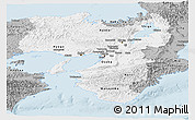 Gray Panoramic Map of Kinki