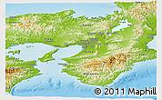 Physical Panoramic Map of Kinki
