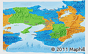 Political Panoramic Map of Kinki