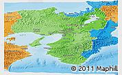 Political Shades Panoramic Map of Kinki