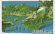 Satellite Panoramic Map of Kinki