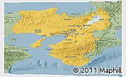 Savanna Style Panoramic Map of Kinki