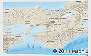 Shaded Relief Panoramic Map of Kinki