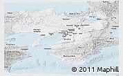 Silver Style Panoramic Map of Kinki