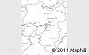 Blank Simple Map of Kinki