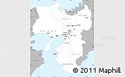 Gray Simple Map of Kinki