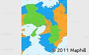 Political Simple Map of Kinki