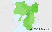 Political Shades Simple Map of Kinki, single color outside