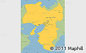 Savanna Style Simple Map of Kinki