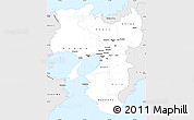 Silver Style Simple Map of Kinki