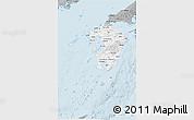 Gray 3D Map of Kyushu