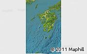 Satellite 3D Map of Kyushu
